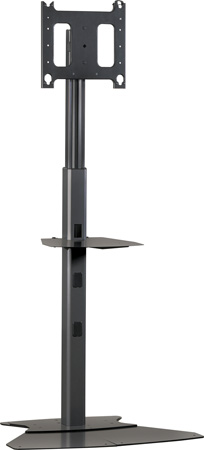 Chief PF1-U Black Flat Panel Display Floor Stand (Silver)