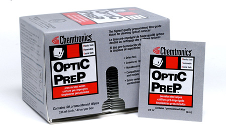 Optic Prep Premoistened Lens-Grade Tissue 4 x 8-1/4 Wipe - 50 Pack