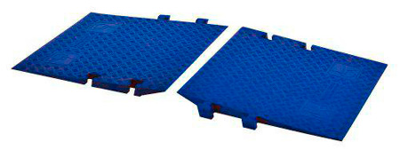 Cross Guard ADA Ramp Attachments for CP1X125-GP LineBacker - Blue