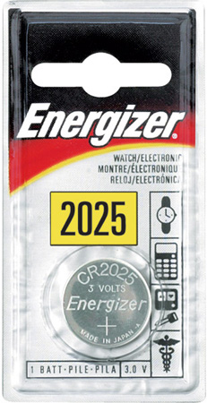 Energizer ECR-2025BP CR2025 Lithium Button Cell Battery