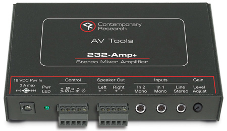 Contemporary Research 232-Amp 16-Watt Per CH Mixer/Amplifier with RS232 Control