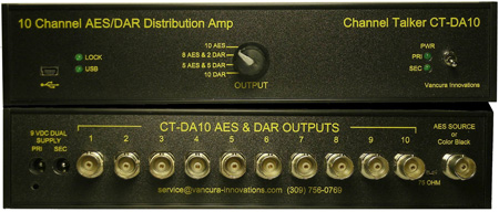 Channel Talker CT-DA10 Distribution Amplifier and DAR Generator
