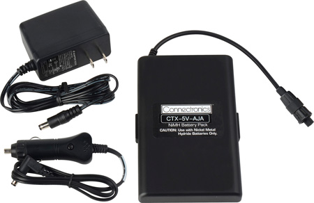 Connectronics 5VDC 2.5A Hour Battery Pack with AJA Conxall power connector