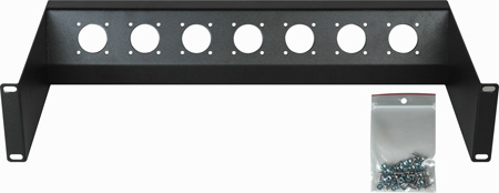 Connectronics CTX-RPTX3 45 Degree 7 Port 6 Inch Truck & OB Van Recessed Triax Rack Panel 2RU
