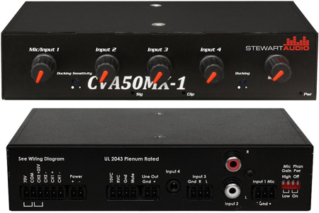 Stewart Audio CVA50MX-1 4-Channel Mixer Amplifier - 50W x 1
