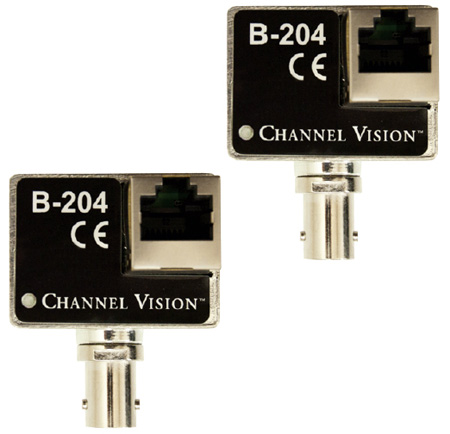 Channel Vision B-204 IP Camera Balun Over Coax Converter Kit
