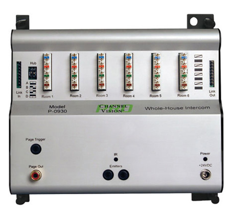 Channel Vision P-0930 CAT5 Whole-House Intercom System Hub
