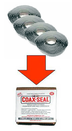 Coax-Seal 4 pack 1in x 12ft Rolls