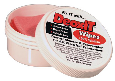 CAIG Laboratories DeoxIT Wipes 50 Pack