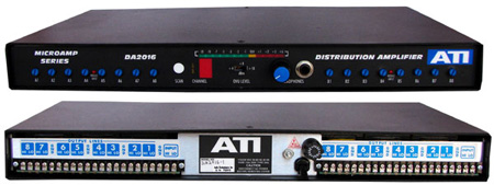 ATI DA2016-1 Dual 1X8 DA Metered Plus-22dBm Transformer Output