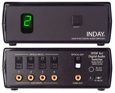 DA4X-R SPDIF 4x1 Digital Audio Switcher