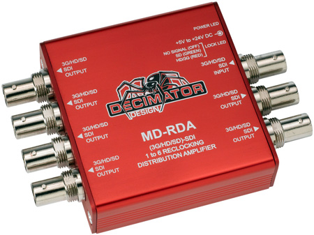 Decimator MD-RDA Miniature (3G/HD/SD)-SDI 1 to 6 Reclocking DA