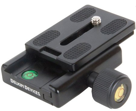 Delkin DDMOUNT-AC-QKRLS DSLR Quick Release Plate for the Fat Gecko Camera Mount