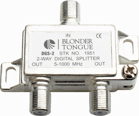 Blonder Tongue DGS-2 Digital Ready 5-1000 MHz 2-Way F Splitter