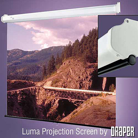 Draper 207003 Luma 70in x 70in Matt White Screen