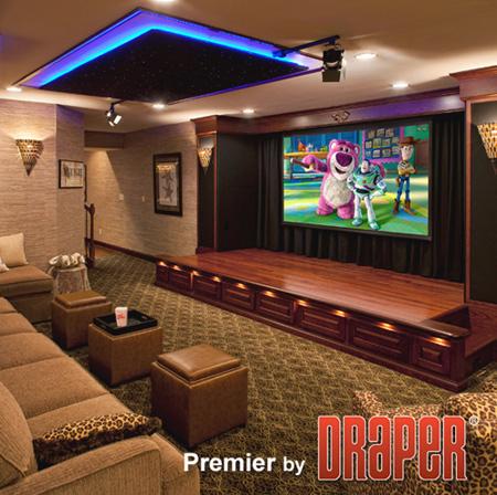 Draper 101641l Premier 137 Inch Electric Projection Screen