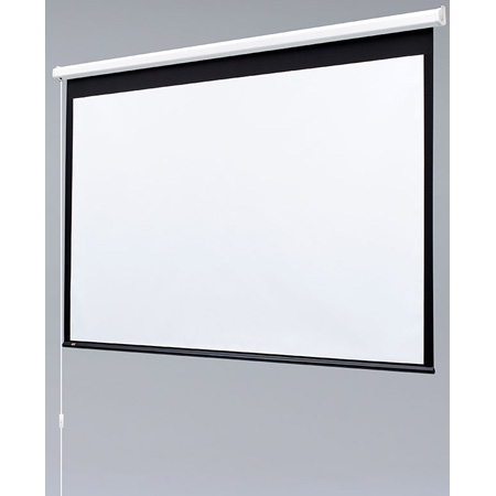Draper 129001 Baronet 50x50 Matte White Motorized Wall Screen