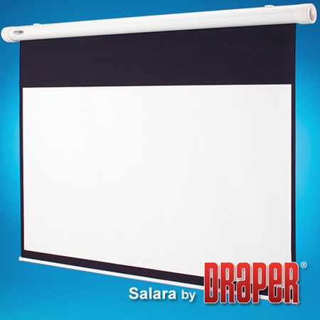 Draper 137136 109 Inch Salara/Series M AutoReturn Manual Projection Screen 16:10 Matt White