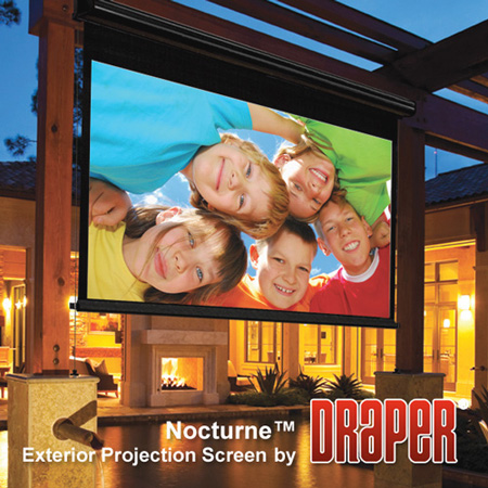 Draper 138008 Nocturne 16:9 HDTV Electric Projection Screen - 92 Inch - HC Grey
