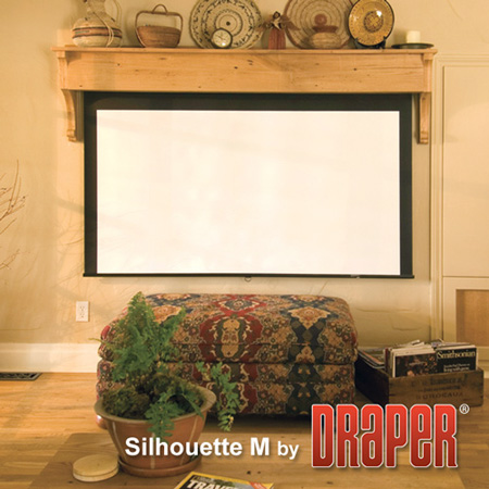 Draper 202235 109 Inch Silhouette/Series M AutoReturn Manual Projection Screen 16:10 Matt White