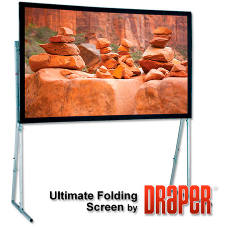 Draper 241011 15 Ft. Ultimate Folding Screen - Matt White XT1000V NTSC