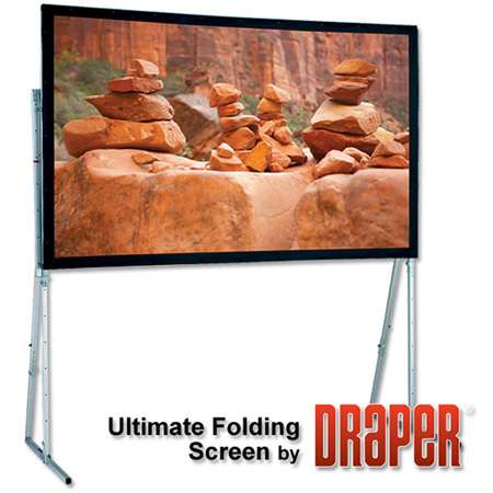 Draper 241016 220 Inch Ultimate Folding Screen with Standard Legs- Matt White