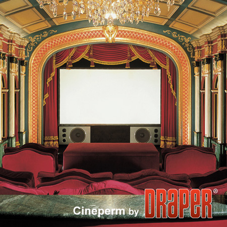 Draper 250022 92 Inch 16:9 Cineperm Fixed Projection Screen - Matt White