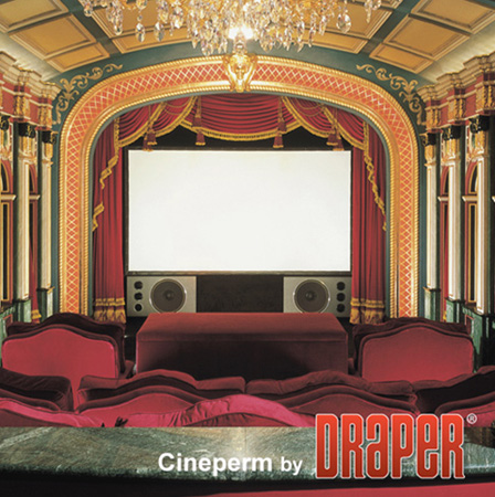 Draper 250126 82 Inch 16:9 Cineperm Fixed Projection Screen - Matt White