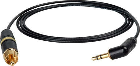 DSLR Video Breakout 3.5mm Male to RCA Male 75 Ohm Cable 1Ft