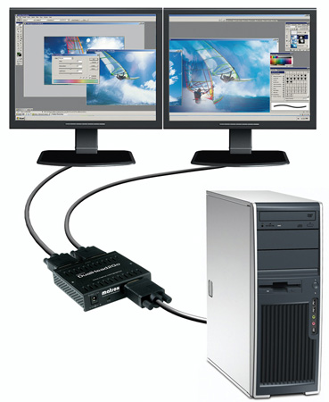 Matrox DUALHEAD2GO Digital Dual Monitor Stretcher with DVI Output