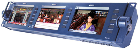 Datavideo TLM-433 Three Screen Monitor Unit