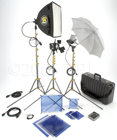 Lowel DV Core 250 ViP System Kit w/GO-85 Case