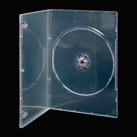 Slimline Plastic DVD Album with Full Sleeve CLEAR