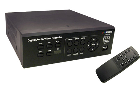 DVR04USB-E IDE-HD Economical M-JPEG CCTV Stand Alone 4-Channel DVR