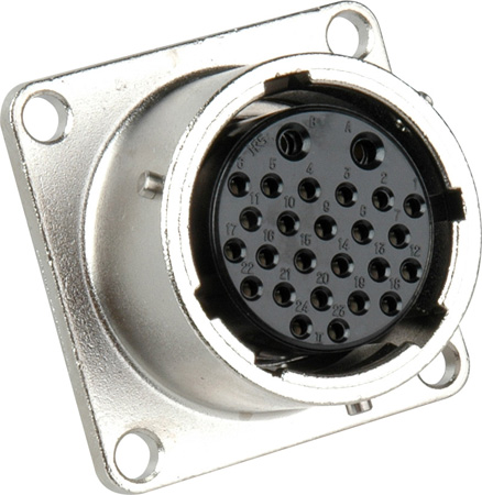 EIAJ Circular 26 Pin Female Chassis Mount Connector