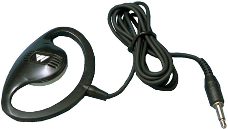 Williams Sound EAR 022 Surround Single Mini Earphone with 3 Foot Cord