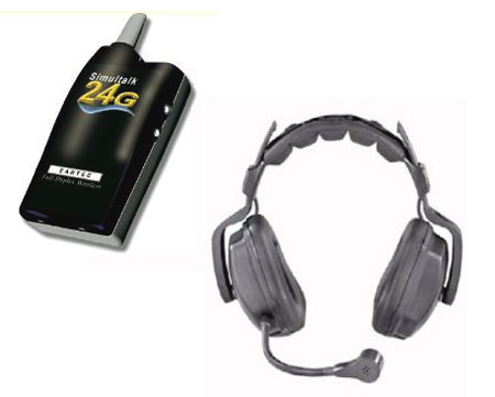 Eartec SLT24G4UD 4 Radios with Ultra Double Headsets