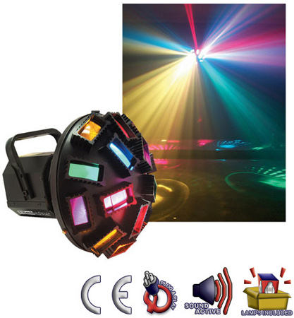 Eliminator E-110 Mystique Sound Active Special FX Multi-Colored Beams