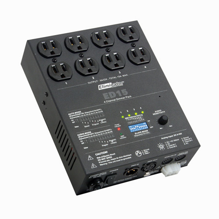 Eliminator Lighting ED-15 4 Channel DMX Dimmer