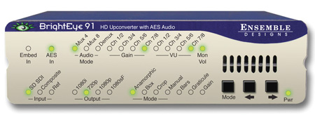 Ensemble Designs BrightEye 91 HD Upconverter with AES Audio