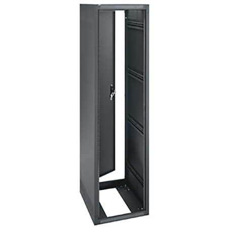 ERK-4425 44RU (77in) 25-Inch Deep Stand Alone Rack with Rear Door- Black