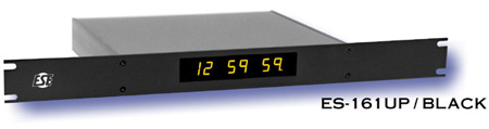 ESE .55 Rack Mount Serial Slave Clock Black Case