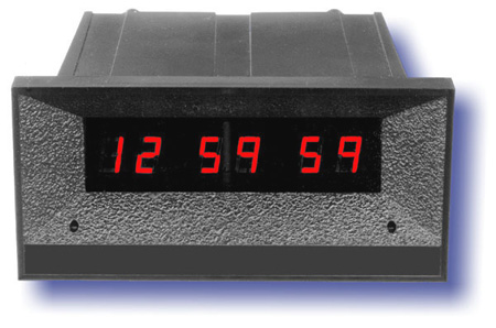 12 Hour 7/16 High Red Digit Real Time Clock BLACK