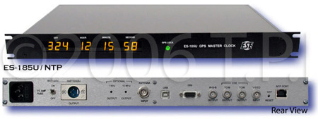 ESE ES-185U/NTP GPS Master Clock/Time Code Generator with Option ANT