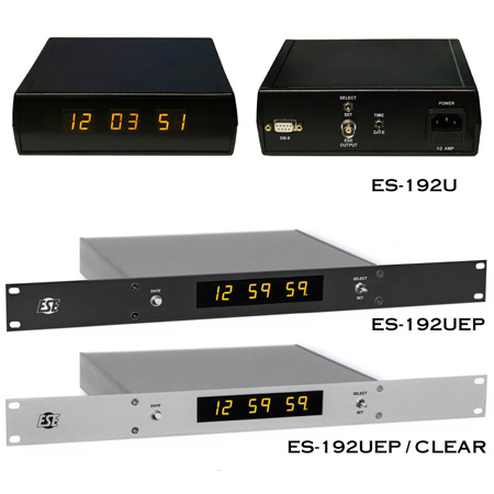 ES-192U Master Clock (6-Digit 12 Hour) with Option P Rack Mount