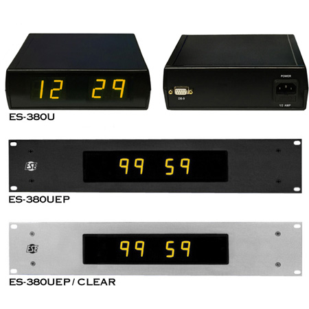 ESE ES-380U 100 Minute Up / Down Timer w/Rack Mount & BLACK Options