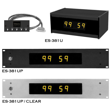 ESE 100 Minute Up/Down Timer with Rack Mount (Black)