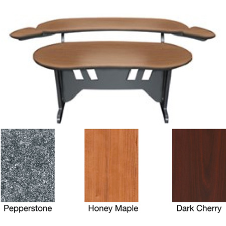 Middle Atlantic ES-DC 60 Inch Desk with Overbridge (Dark Cherry)