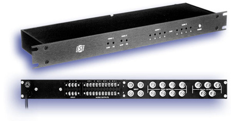 Dual 1 X 4 Audio/Video DA With 5 Black Burst Sync Outputs