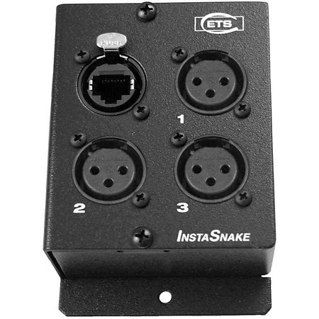 ETS PA205F InstaSnake 3-Channel XLR Female CAT5 Audio Balun